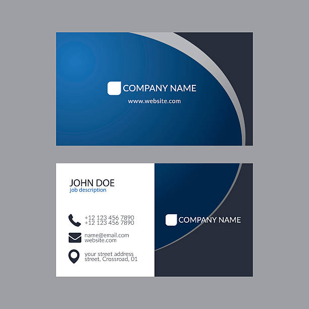 elegant business card template - business cards templates stock illustrations