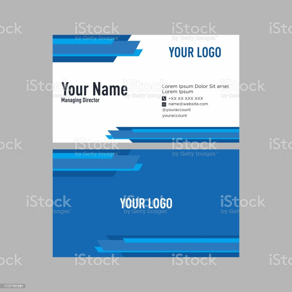elegante Business Vektor Kartendesigns – Vektorgrafik