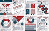 Set Of Elegant Business Report Template On A Polygon Background. Vertical design layout for report cover or powerpoint presentation. Organized layers for easier editing.
