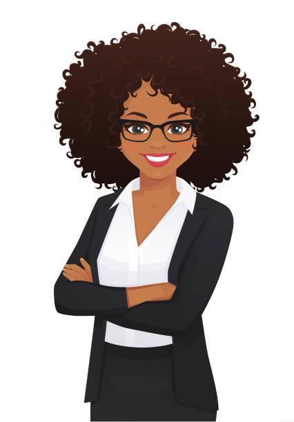 ilustrações de stock, clip art, desenhos animados e ícones de elegant business woman portrait - portrait of confident business