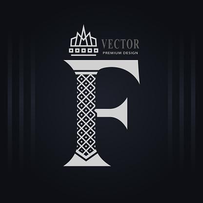 Elegant Capital Letter I Graceful Royal Style Creative ...