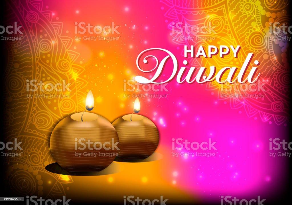 Elegant card design of traditional indian festival diwali beautiful elegant card design of traditional indian festival diwali beautiful greeting card for festival of diwali m4hsunfo