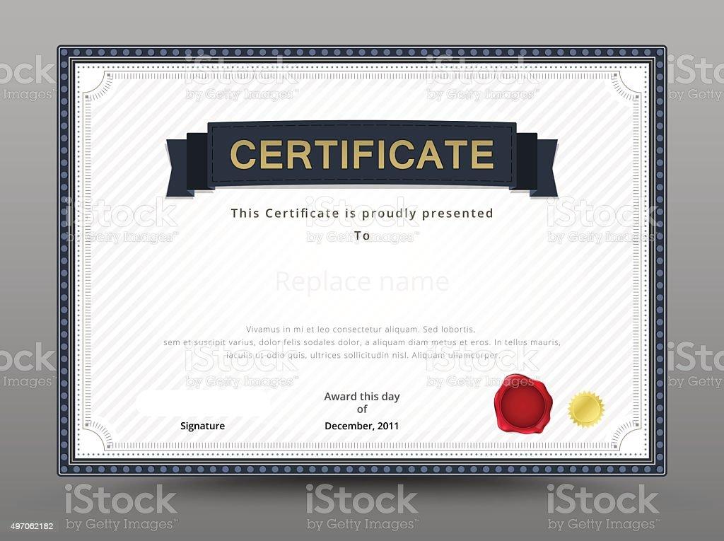 Elegante Zertifikat Vorlage Businesszertifikat Formelle Note Stock ...