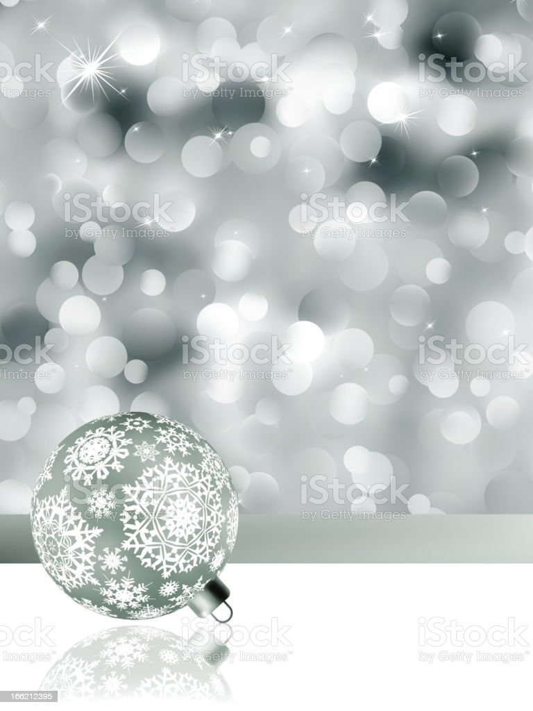 Elegant christmas background with baubles. EPS 8 royalty-free stock vector art