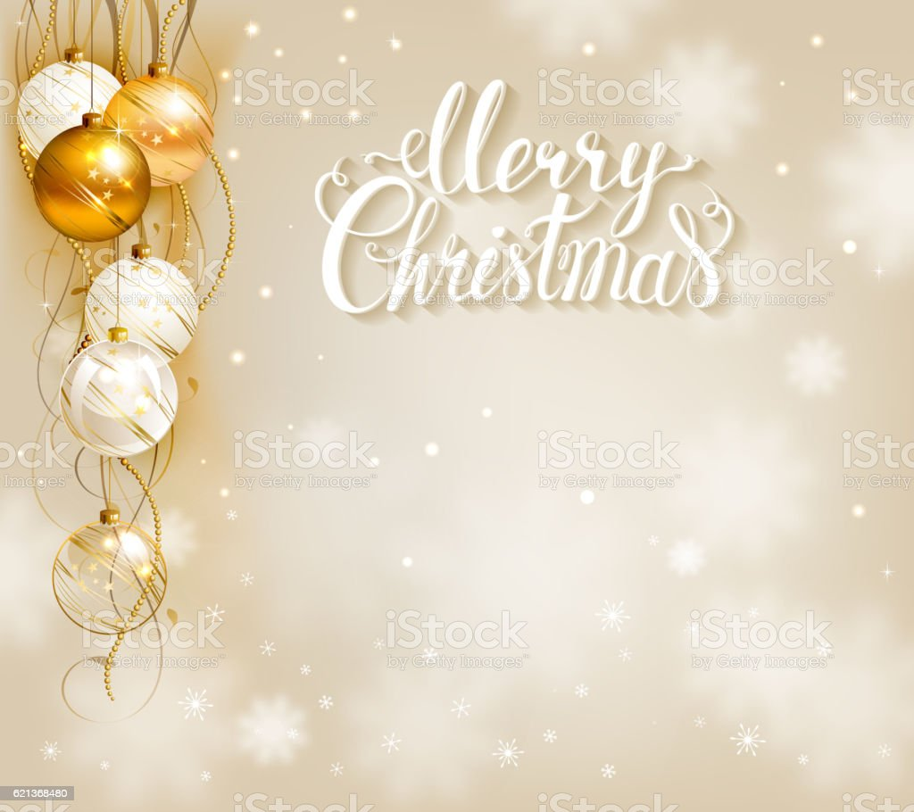 elegant christmas background with gold and white evening balls royalty free elegant christmas background with - Elegant Christmas
