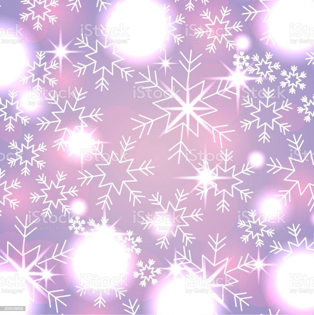 Elegante Weihnachten Hintergrund Mit Schneeflocken Abstrakte Lichter ...