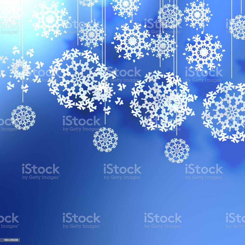 Elegant Christmas background with snowflakes. royalty-free stock vector art
