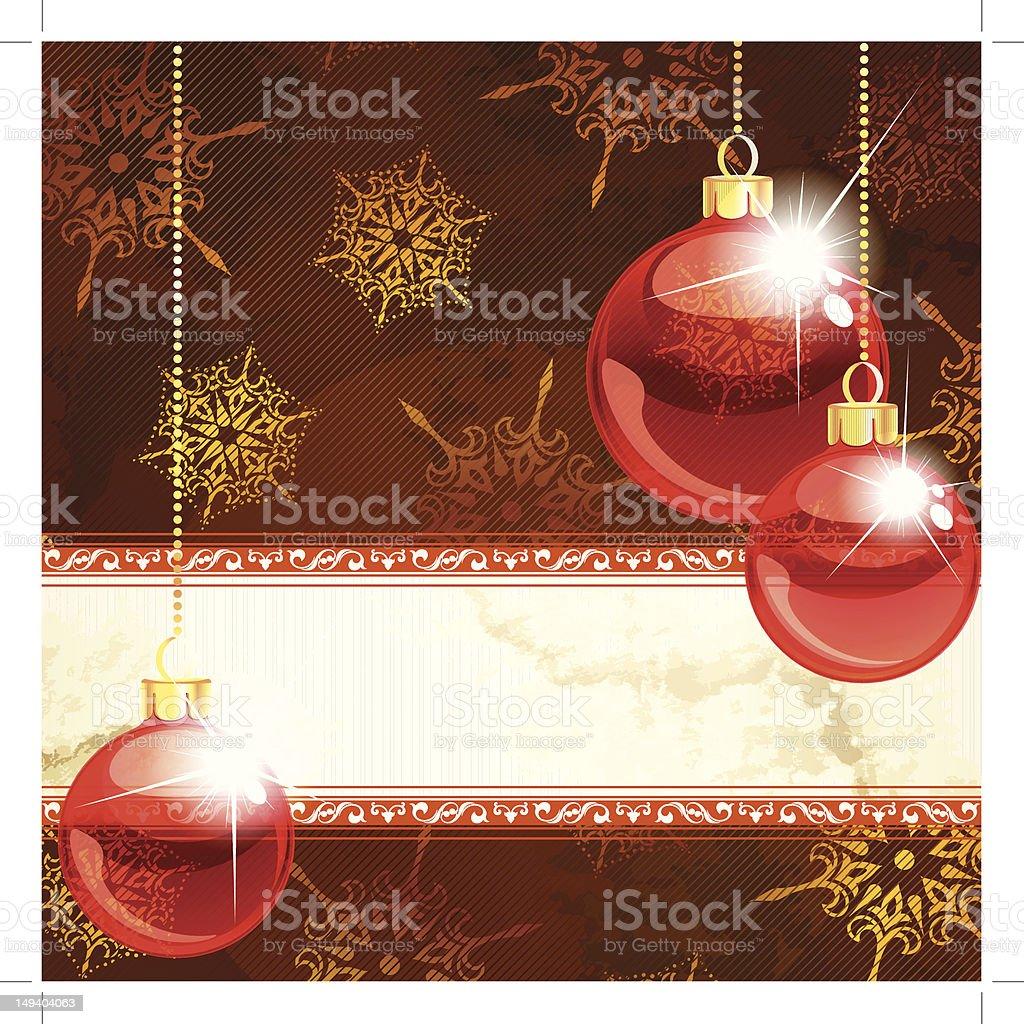 Sfondi Natalizi Eleganti.Eleganti Banner Di Natale Con Decorazioni In Rosso Trasparente