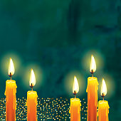 Holiday background template with candles