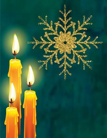 Elegant Christmas Candles Background