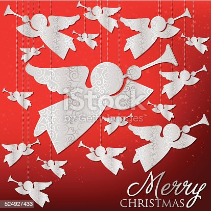 Elegant hanging ornament card in vector format