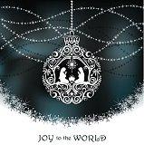 Elegant Christmas Nativity Ornament