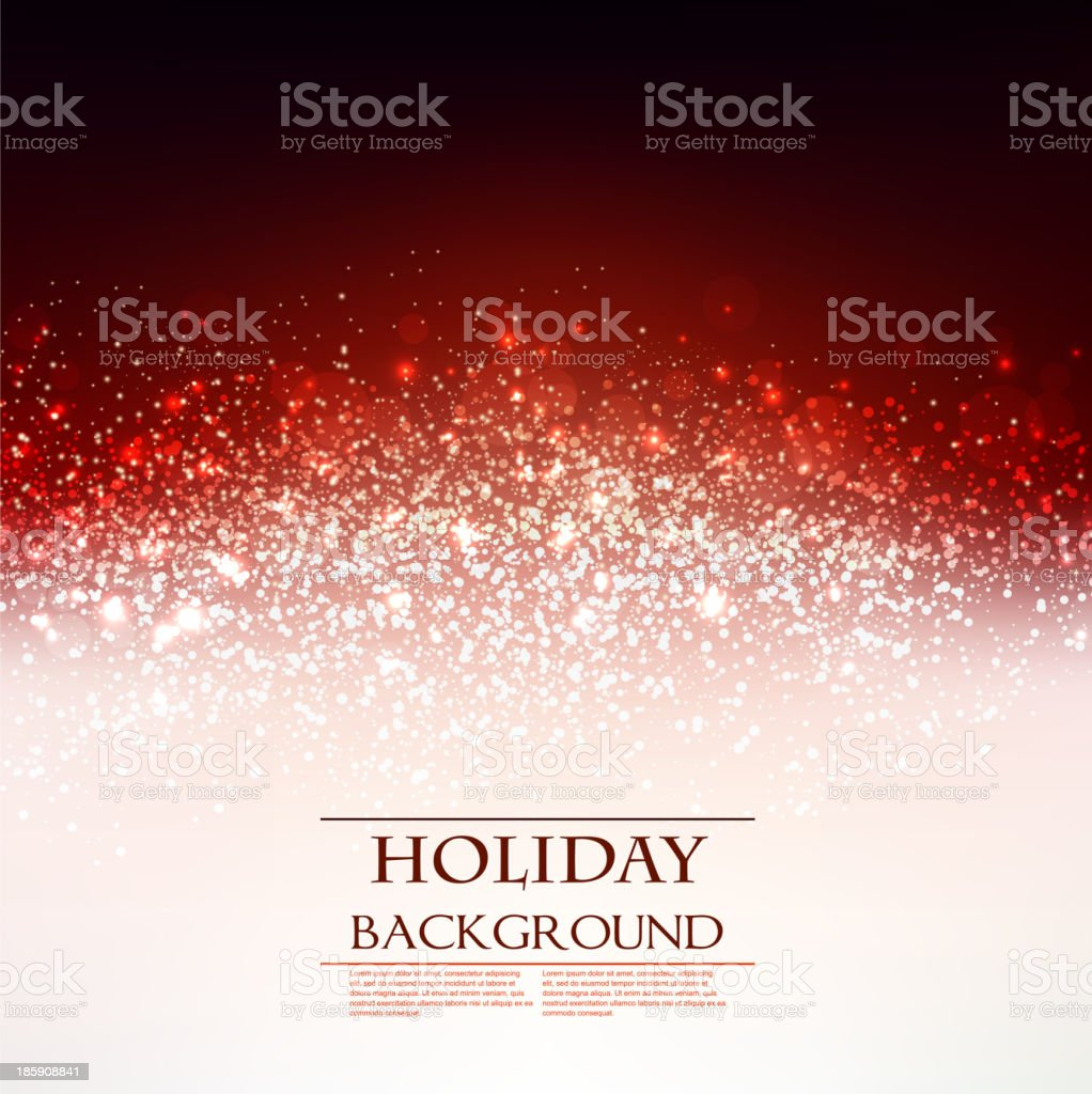 Elegant Christmas Red background with snowflakes royalty-free stock vector art