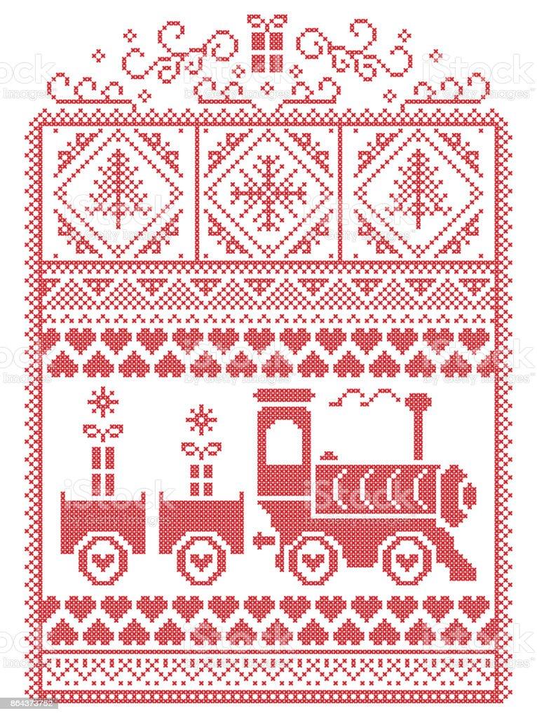Ilustración de Elegante Navidad Escandinavo Estilo Nórdico Invierno ...