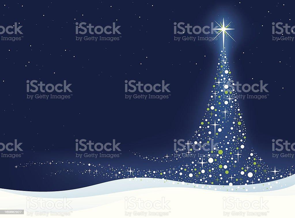 Elegant Christmas tree (blue) Elegant Christmas Background. Backgrounds stock vector