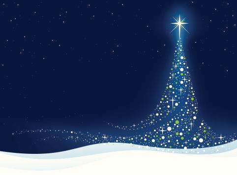 Elegant Christmas Tree Stock Illustration - Download Image Now