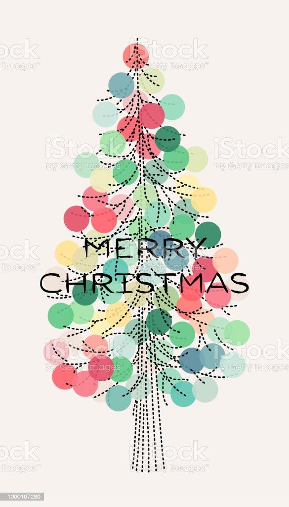 Ilustracion De Elegante Arbol De Navidad Con Pastel Color Decoracion