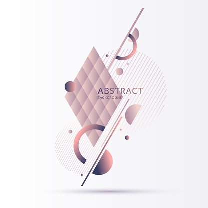 Elegant composition with dynamic and geometric shapes in pastel colors. A template for advertising and social networks.
