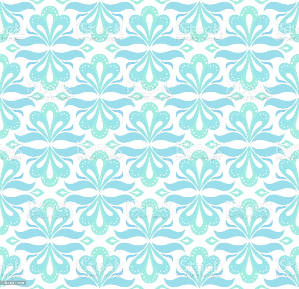 elegant damask floral vector seamless pattern decorative flower illustration abstract art deco background