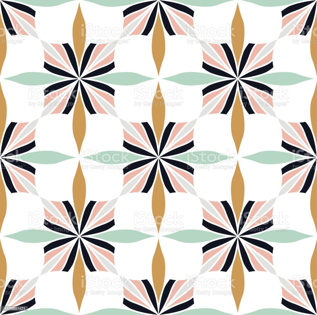 Ornamental Arabesque floral tiles seamless vector pattern. Abstract...