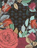 istock Elegant Dark Rose Backgrounds 1298616691