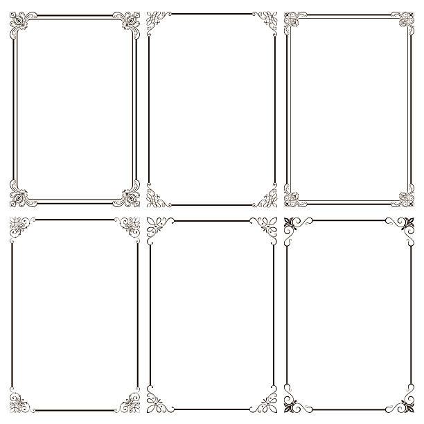 Cadres décoratifs élégants - Illustration vectorielle