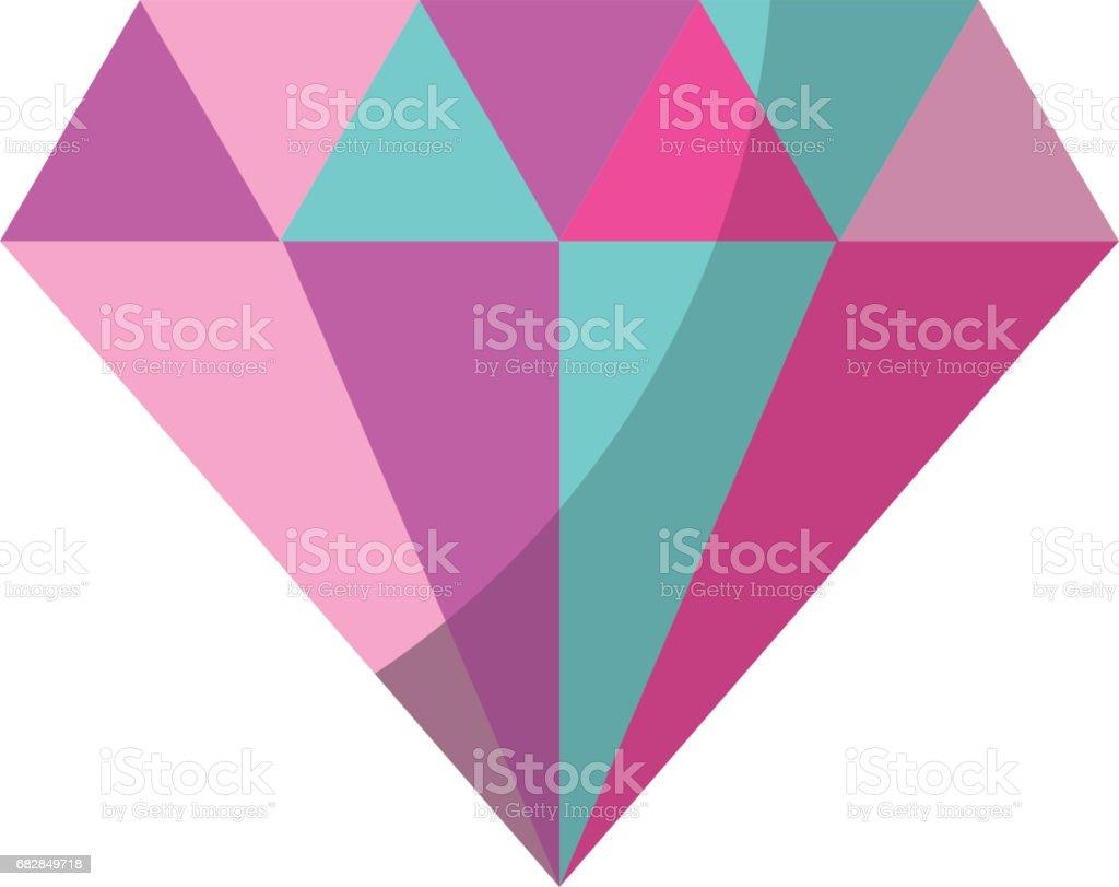 elegante Diamant-isoliert-Symbol Lizenzfreies elegante diamantisoliertsymbol stock vektor art und mehr bilder von bildhintergrund