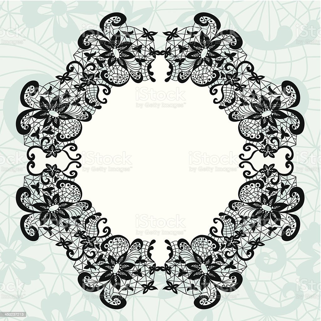 Elegant doily on lace gentle background royalty-free stock vector art
