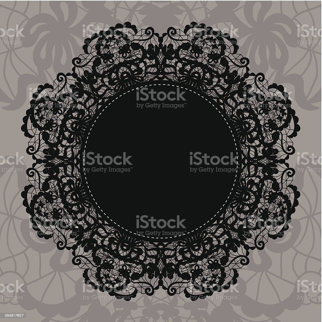 Elegant doily on lace gentle background royalty-free elegant doily on lace gentle background stock vector art & more images of anniversary