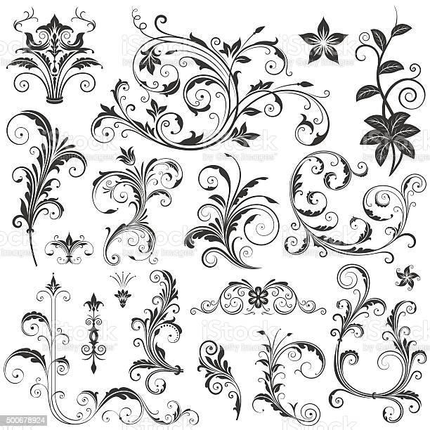 Elegant floral ornaments set ii vector id500678924?b=1&k=6&m=500678924&s=612x612&h=wc 3ybtnlkc5jwreq9kqtyd2o8lafkgsqeev8f0i82q=