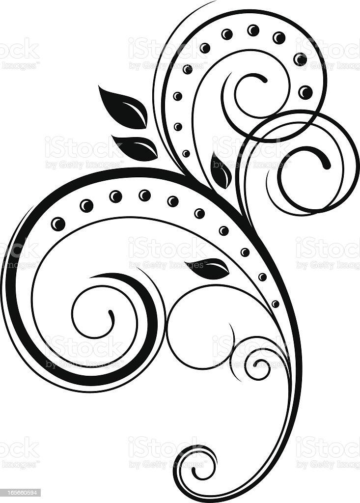 elegant swirl floral vector clip illustration decoration curve vectors curled