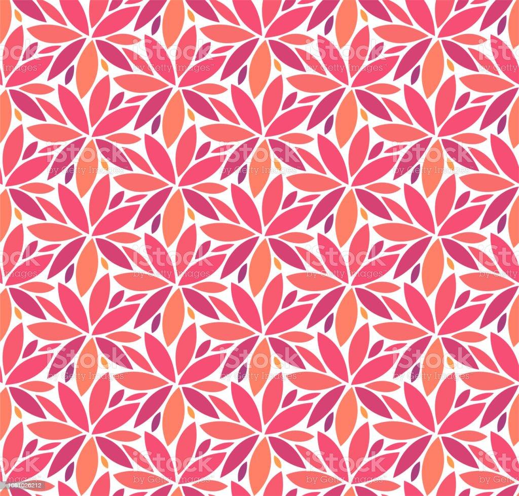 Vetor Floral elegante padrão sem emenda. Ilustração de flor decorativa. Fundo de Deco de arte abstrata. - ilustração de arte em vetor