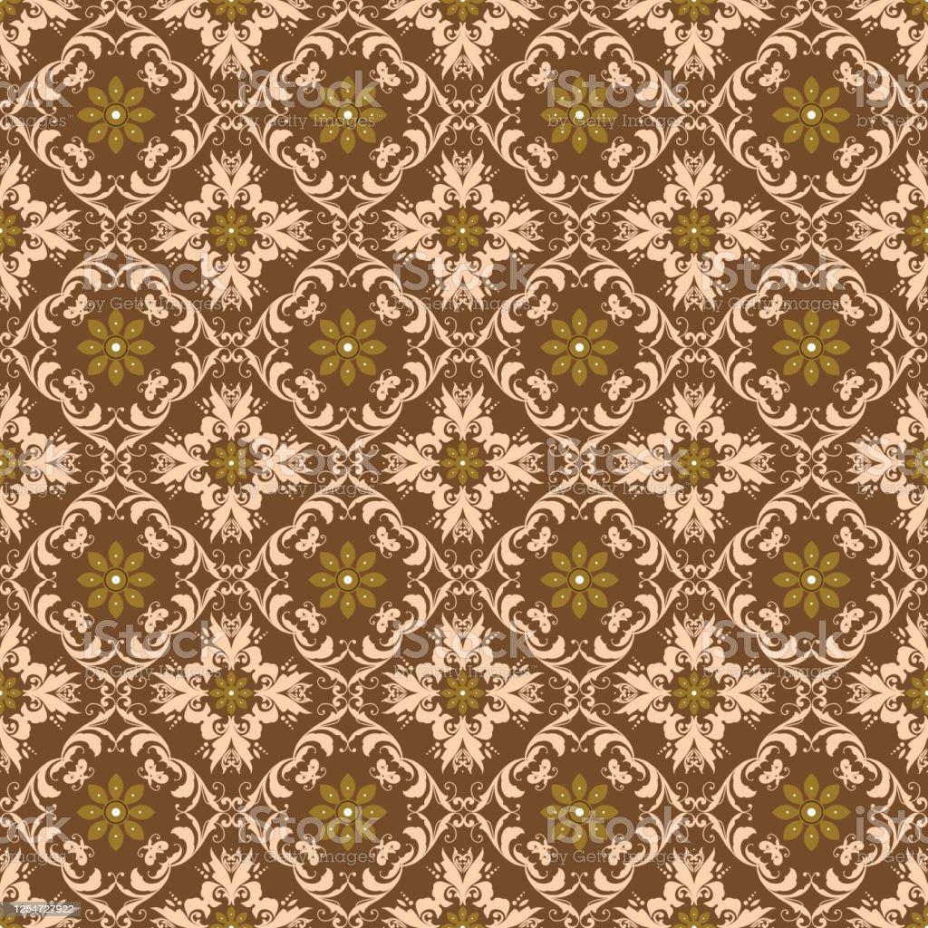 Elegant Flower Motifs On Batik Bantul Design With Simple