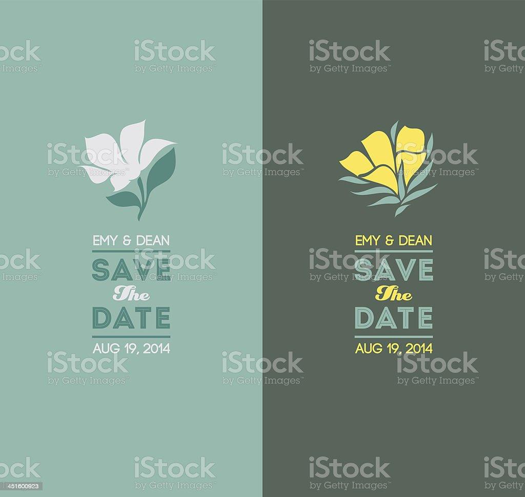Elegant flowers. Wedding graphic set vector art illustration
