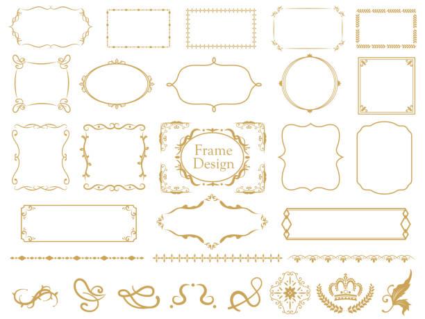 優雅的框架設置1 - 有邊框的 幅插畫檔、美工圖案、卡通及圖標