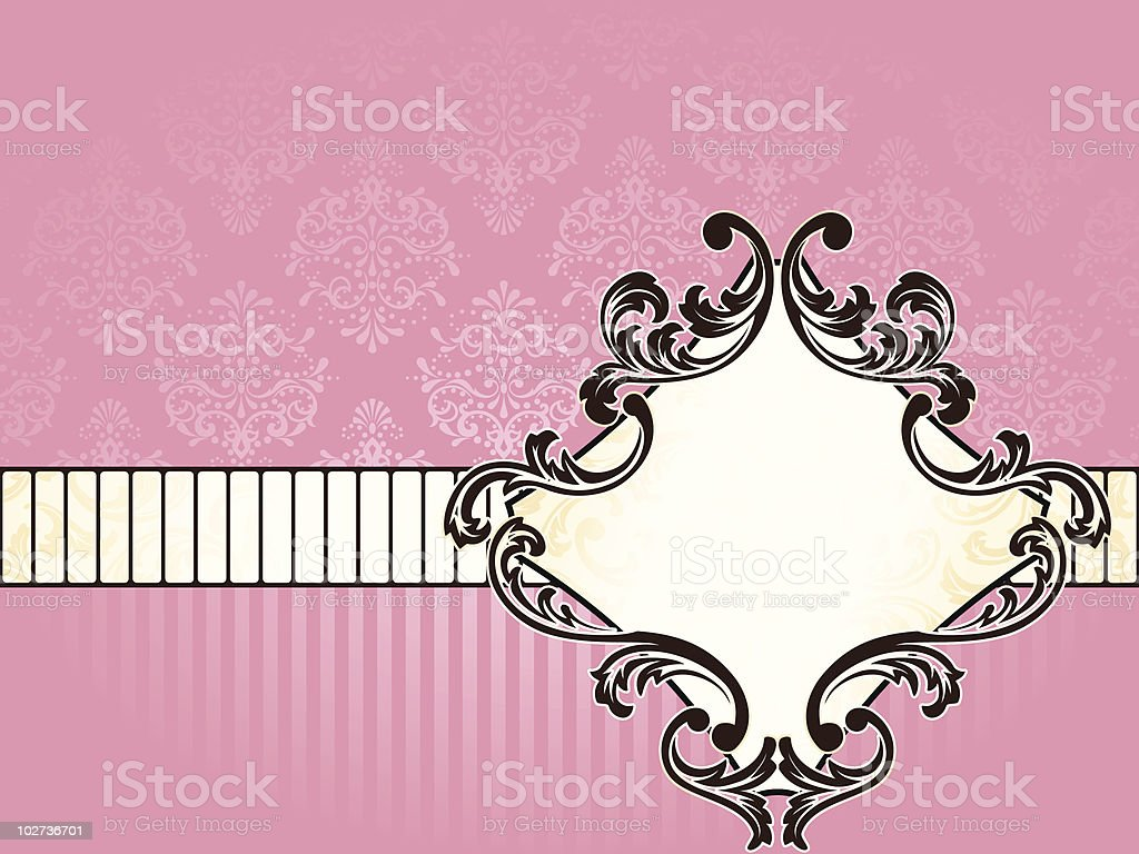 Elegant French vintage label, horizontal royalty-free stock vector art