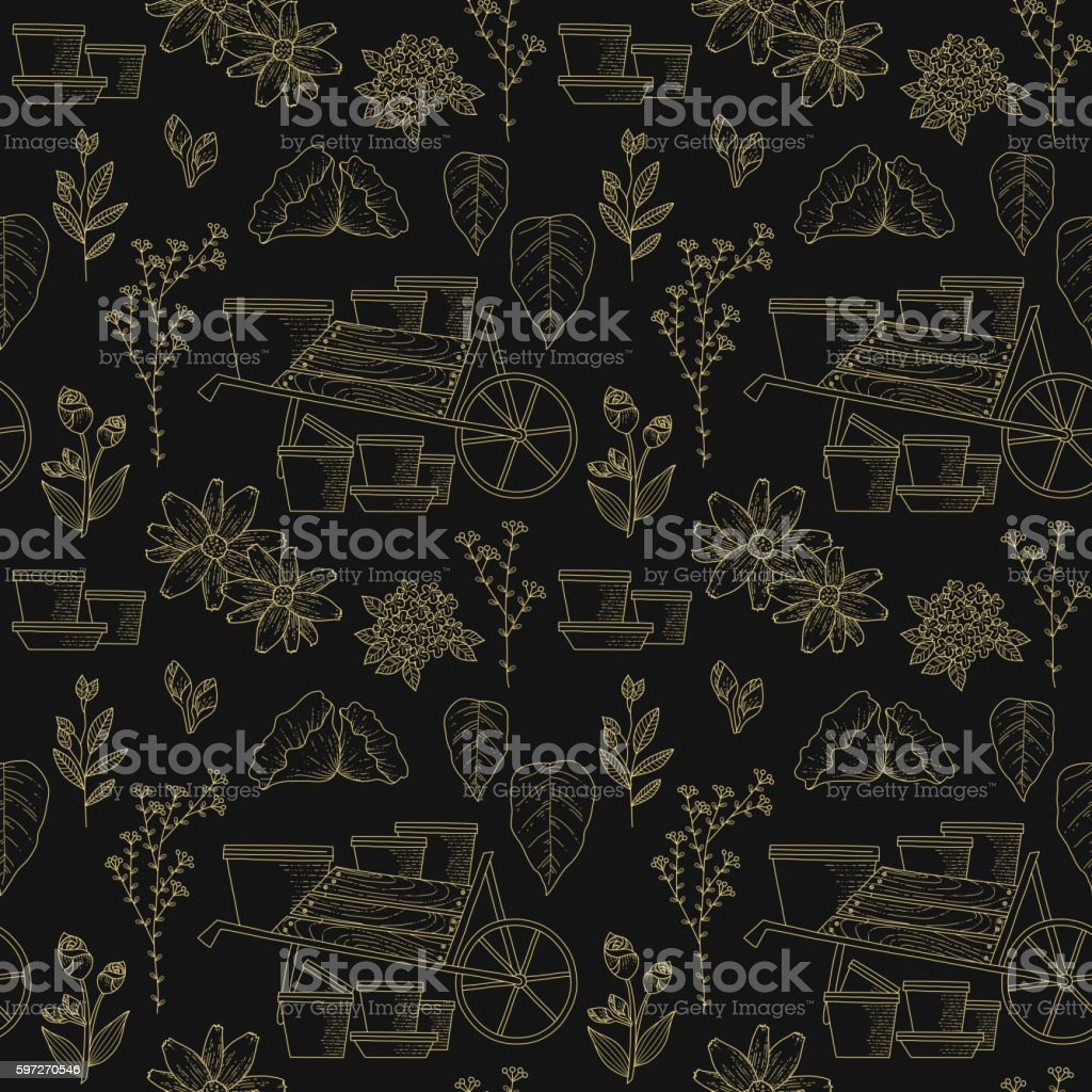Elegant gardening seamless pattern royalty-free elegant gardening seamless pattern stock vector art & more images of abstract