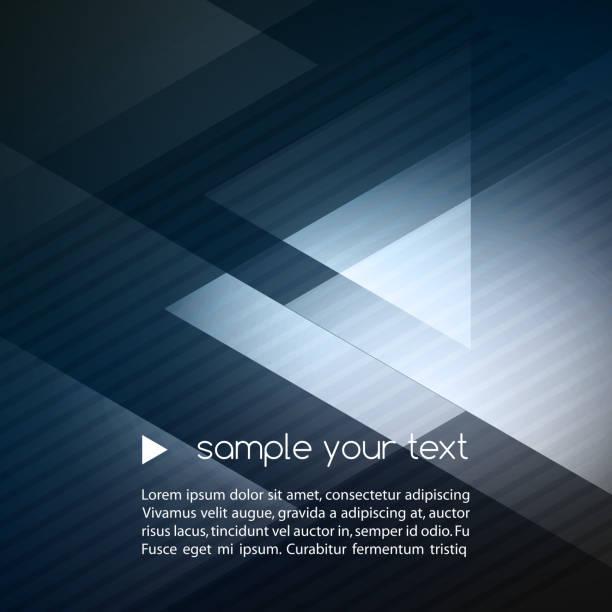 geometryczne niebieskie tło elegancki - triangel stock illustrations