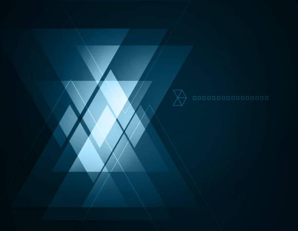 stockillustraties, clipart, cartoons en iconen met elegant geometric blue background - triangel