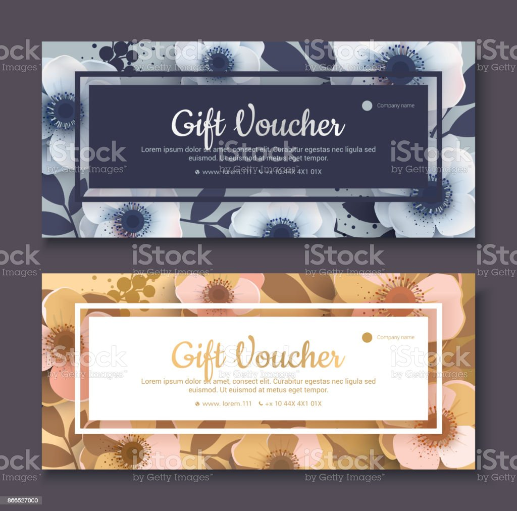 Elegant Gift Voucher Coupon Template Stock Vector Art More Images