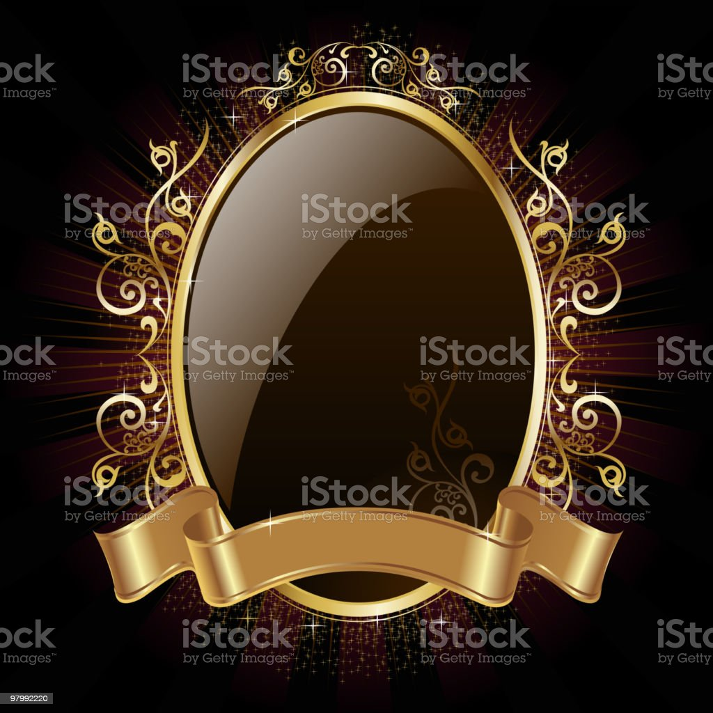 Elegant Glossy Golden Frame royalty-free elegant glossy golden frame stock vector art & more images of banner - sign