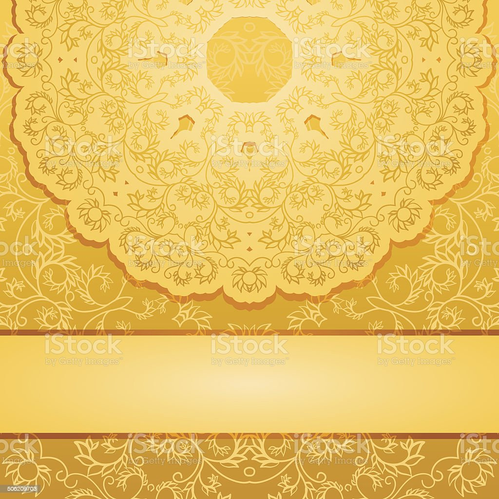 Elegant gold backgroundΠvector art illustration