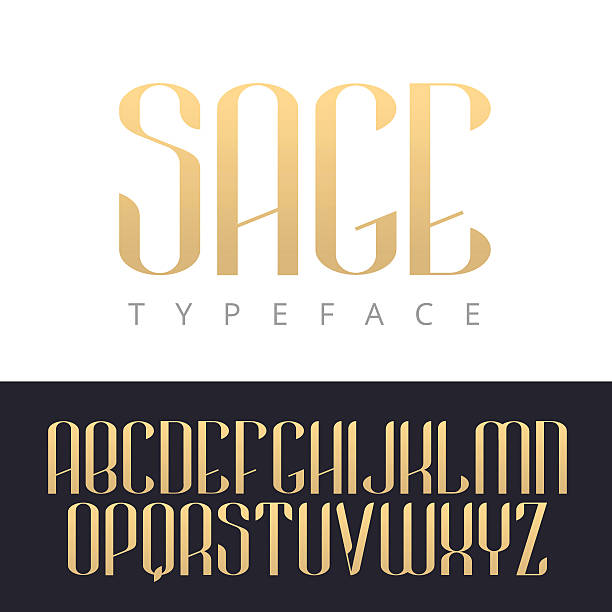 Elegant golden vector type. Premium luxury font design. Elegant golden vector type. Calligraphy lettering typeface letters uppercase . Typeset for logos, headlines, labels, quotes, titles or posters. signature collection stock illustrations