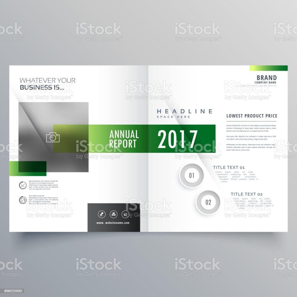 Elegant Green Bi Fold Brochure Or Magazine Cover Page Design Template Stock Illustration Download Image Now Istock