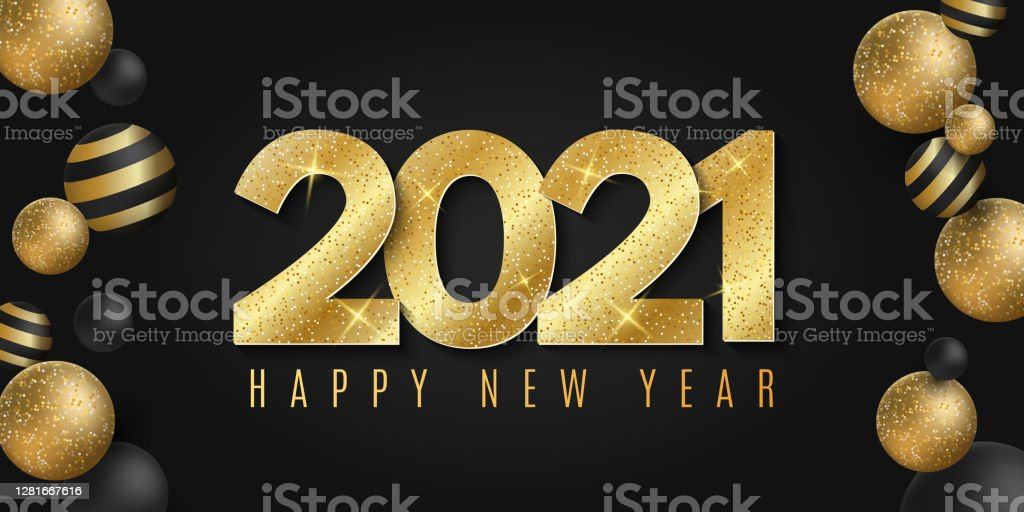 2021 Christmas Ebvent Elegant Greeting Card For 2021 Happy New Year Poster For Christmas Event Dynamic Glittering Volumetric Balls With Pattern Trendy Festive Design Banner Vector Illustration Stock Illustration Download Image Now Istock