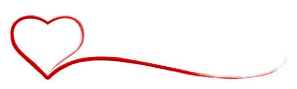 Elegant heart brush strokes - stock vector Elegant heart brush strokes - stock vector annotation stock illustrations