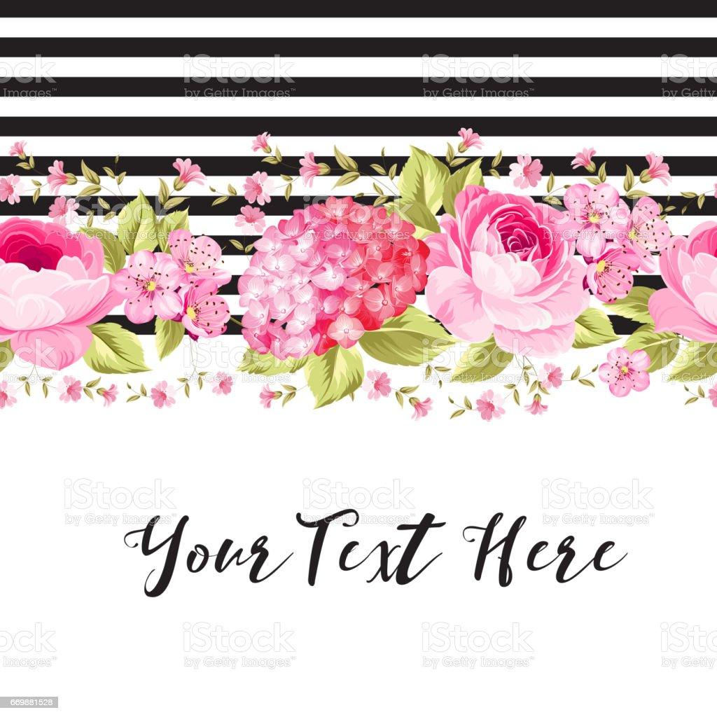 Elegant Invitation Card vector art illustration