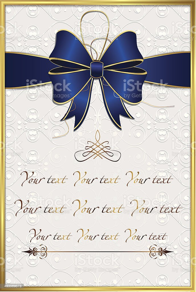 Elegant invitation / greeting card - regular print size vector art illustration