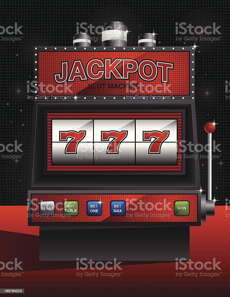 Elegant Jackpot Slot Machine vector art illustration