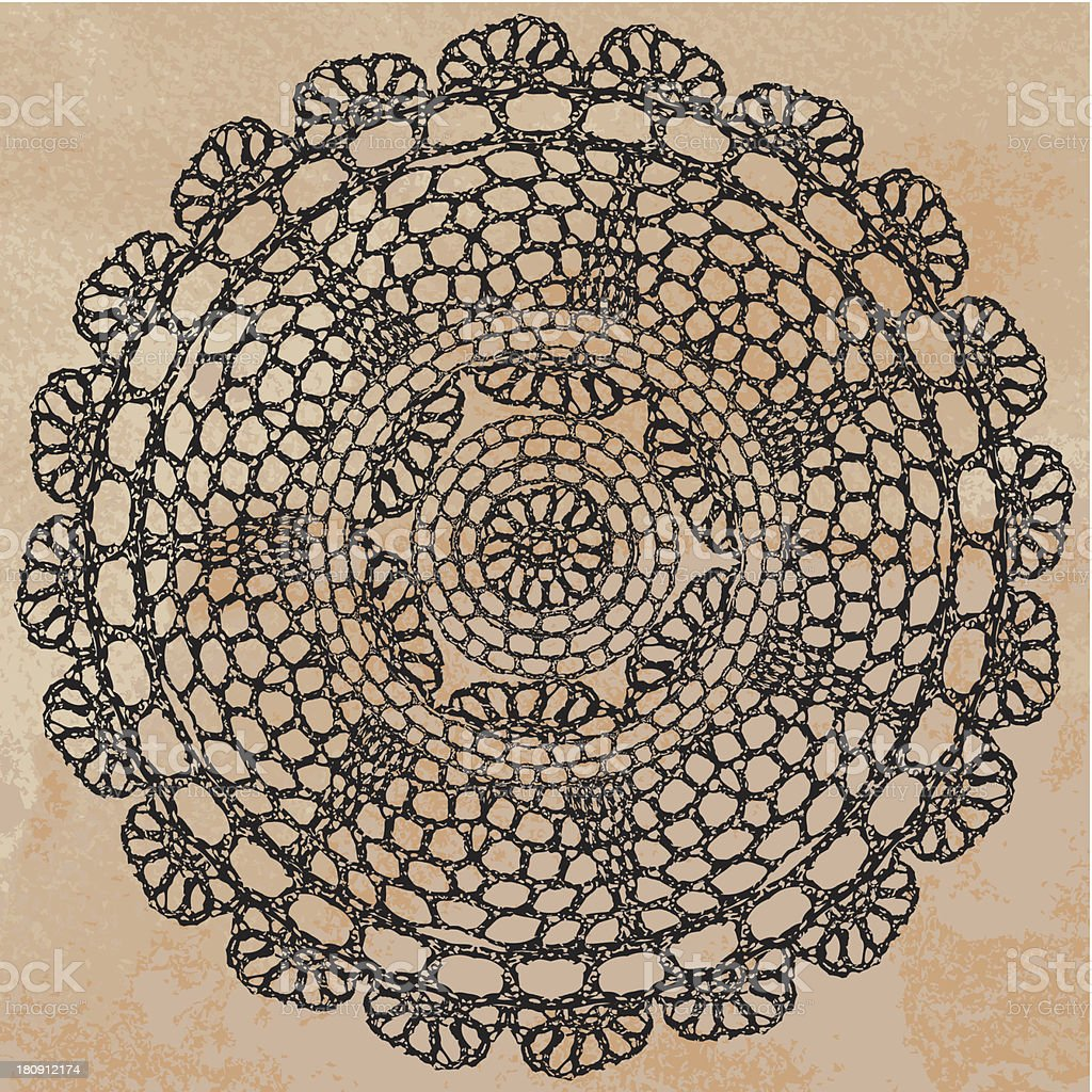 Elegant lacy doily royalty-free elegant lacy doily stock vector art & more images of art and craft